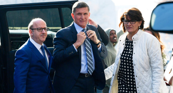 flynn arrives to plea